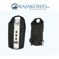 Worek HD 50L + Pasy RUK (bez okna, cała czarna)